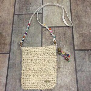 Beaded Straw Cappelli Crossbody Bag